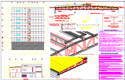 Roof structure detail plan dwg file