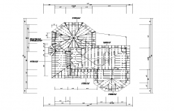 Roof structure detail plan layout autocad file