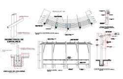 Roof structure plan detail dwg file