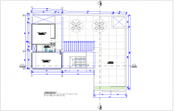Roof top plan of housing area dwg file