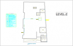 Roof top plan with electrical view of house with its legend for second level dwg file