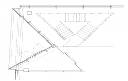 Roofing structure shed detail 2d view layout dwg file