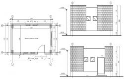 Room elevation Plan CAD Drawing