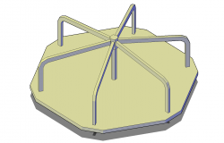 Round-about swing plan detail dwg file.