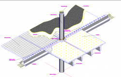 Round column slab and beam detail cad files