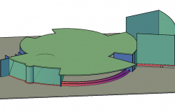 Round shape 3 D plan detail