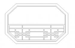Round shape large window cad blocks design dwg file