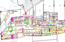Route Facilities Electronics Design and Elevation dwg file