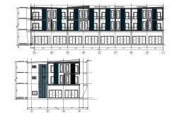Row Apartment Elevation Design