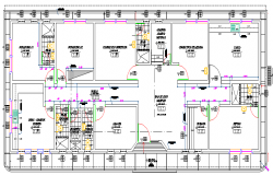 Rural Hospital Architecture Elevation dwg file