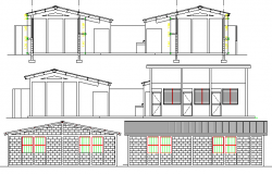 Rural School Project Elevation and Section Details dwg file