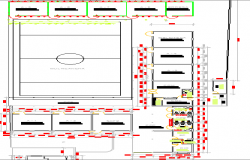 Rural school architecture layout plan dwg file