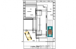 Rustic house plan detail dwg file