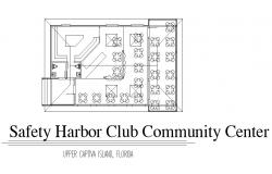 Safety harbor club community center distribution plan details dwg file