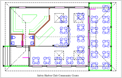 Safety harbor club community center plan layout details