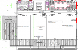 Sales office modular design details dwg file