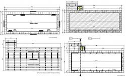 Saloon plan hatching detail dwg file