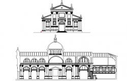Sangi orgiomayore church elevation detail dwg file