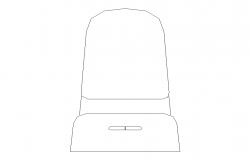 Sanitary English sitting closed toilet detail 2d view layout file