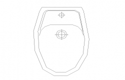 Sanitary English sitting toilet detail elevation layout autocad file