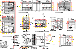 Sanitary Installation of Multi-Flooring Hospital Project dwg file