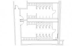 Sanitary Public Toilet Plan AutoCAD Drawing