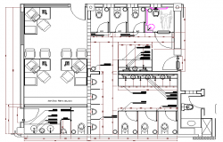 Sanitary Rooms of Multi Flooring Corporate Building Elevation dwg file