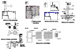 Sanitary and electrical house plan detail dwg file