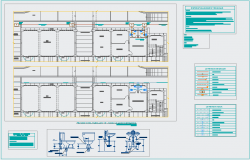 Sanitary design view with its legend for collage dwg file