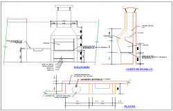 Sanitary detail and platform view dwg file