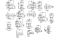 Sanitary detail in autocad