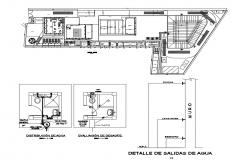 Sanitary distribution and layout plan details of store cad drawing details dwg fil
