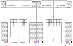 Sanitary facilities elevation of one family house dwg file