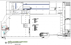 Sanitary house plan detail dwg file