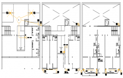 Sanitary installation details of all flooring of building dwg file