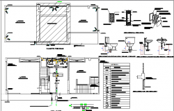 Sanitary installation details of community building floors dwg file