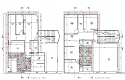 Sanitary installation details of corporate office dwg file