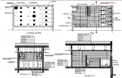 Sanitary installation details of office building dwg file