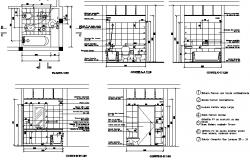 Sanitary installation details of one family housing dwg file