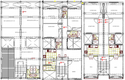 Sanitary installation details of residential building details dwg file