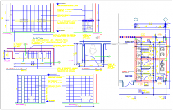 Sanitary installation details of school toilets dwg file