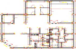 Sanitary installation details of telecom office dwg file