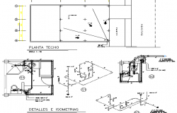 Sanitary installation details with plumbing of store project dwg file