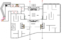 Sanitary installation details with structure of super market dwg file
