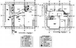 Sanitary installation layout  dwg file