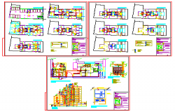 Sanitary installation of Building department design drawing