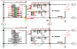 Sanitary installation of all floors of corporate office building dwg file