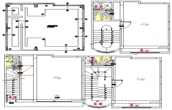 Sanitary installation of all floors with structure details of office dwg file