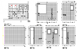 Sanitary installation of bathroom of house cut sectional details dwg file