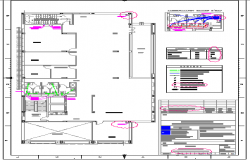 Sanitary installation with general plan of tenth floor of office building dwg file